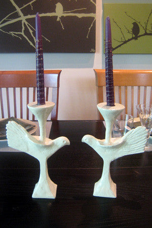 Ivory Dove Candlesticks by Lunares - ModernTribe - 1