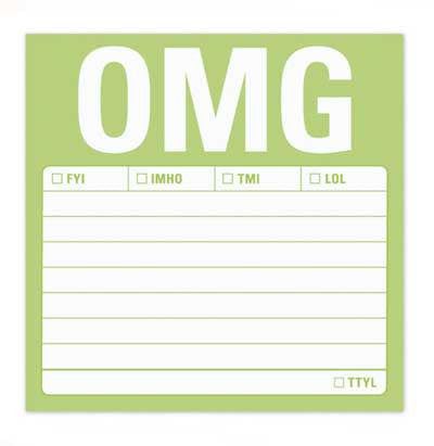 OMG Sticky Notes by Knock Knock - ModernTribe - 1