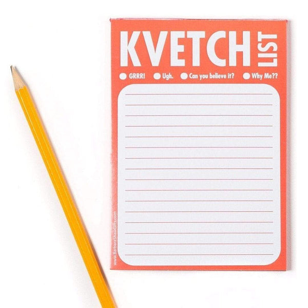 Barbara Shaw Desk or Office Accessory Kvetch Kvetch Notepad