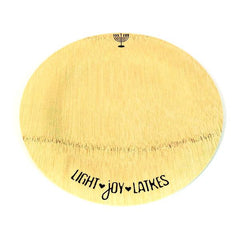 ModernTribe's Light, Joy, Latkes Hanukkah Bamboo Plates by ModernTribe - ModernTribe - 1