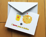 I Love You A Latke Greeting Card by Silly Reggie - ModernTribe - 2