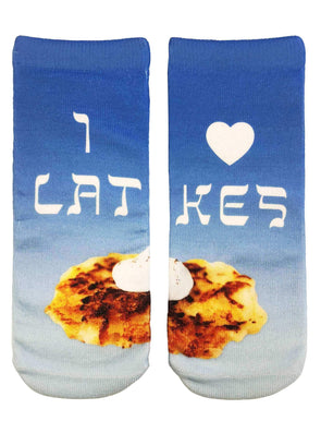 I Heart Latkes Ankle Socks