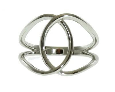 Sugar Bean Jewelry Rings 7 / White Gold Interlocked White Gold Ring