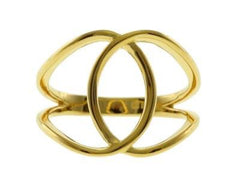 Interlocked Yellow Gold Ring by Sugar Bean Jewelry - ModernTribe