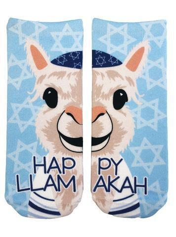 Happy Llamakah Ankle Socks