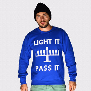 Light It, Pass It Hanukkah Sweatshirt