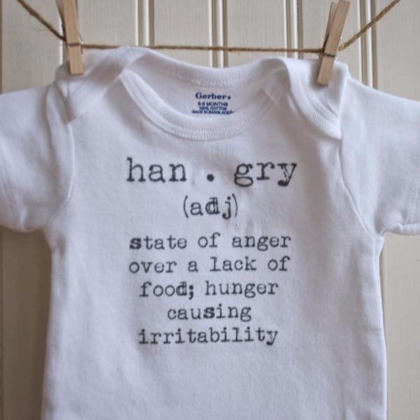 French Silver Onesie Hangry Definition Onesie