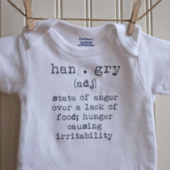 Hangry Definition Onesie by French Silver - ModernTribe