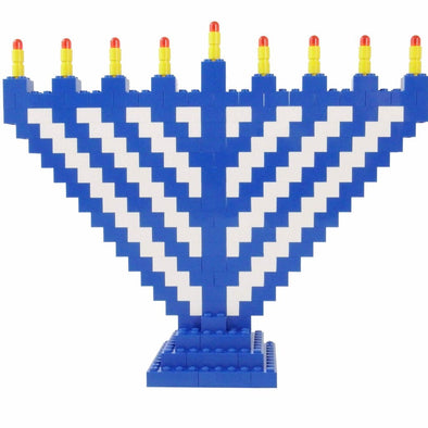Limited Edition Blue and White LEGO® Menorah