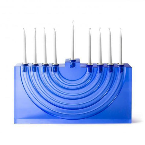 Jonathan Adler Bel Air Menorah - Blue by Jonathan Adler - ModernTribe - 1