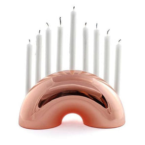 Nosh Menorah - Rose Gold, Brass or Chrome