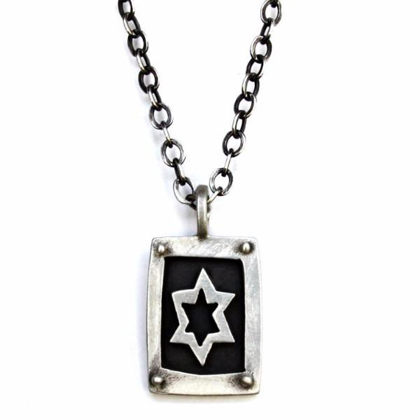 Emily Rosenfeld Necklaces Silver Chain Men's Star of David Necklace by Emily Rosenfeld