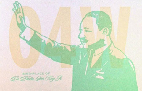Old 4th Ward MLK Postcard by Concrete Lace by Concrete Lace - ModernTribe