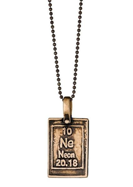 Neon glow in bronze periodic table of elements necklace moderntribe urtaz