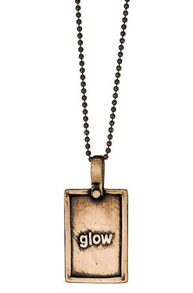 Marla Studio Necklaces Bronze Neon-Glow in Bronze Periodic Table of Elements Necklace by Marla Studio