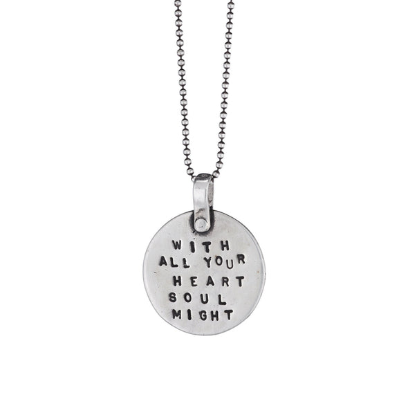 With All Your Heart, With All Your Soul, With All Your Might Necklace by Marla Studio - ModernTribe - 6