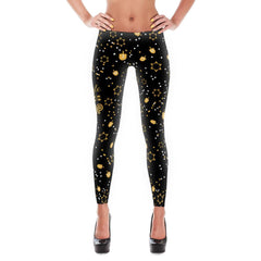 Jingle Sizzle Pop Leggings - For Merry Jew Year's Eve-ukkah