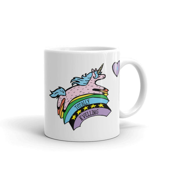 Jewnicorn Totally Kvelling Mug