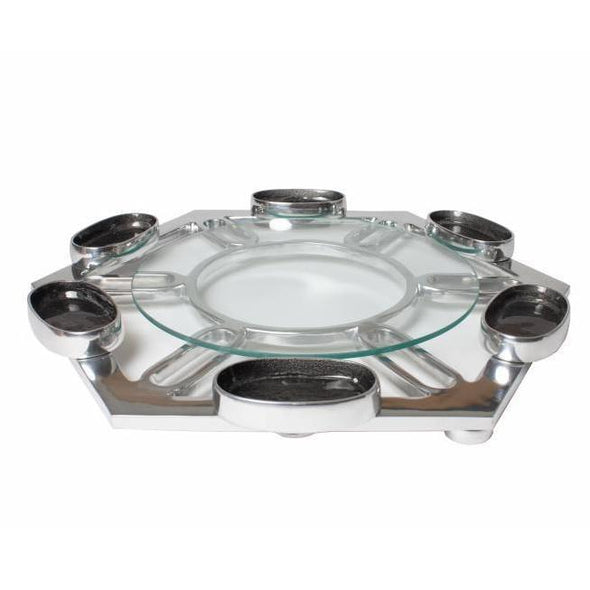 Modern Hexagon Seder Plate