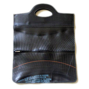 Recycled Tires: Zipper Tote by Neutra - ModernTribe - 1