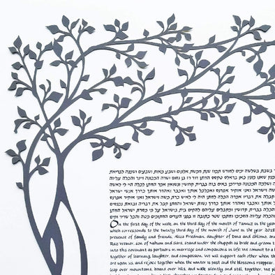 Oasis Ketubah by Melanie Dankowicz - (Choice of Colors) - ModernTribe