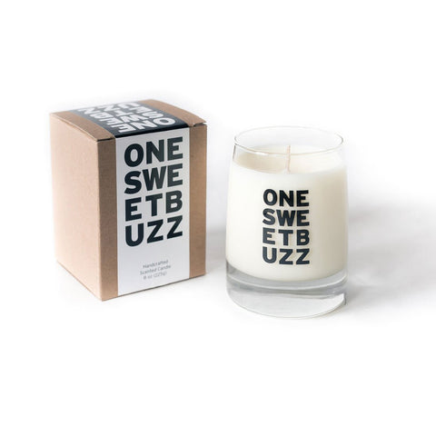 One Sweet Buzz Honey & Fig Scented Candle in Reusable Whiskey Glass by Small Gunns - ModernTribe