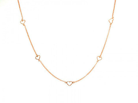 Open Heart Chain Necklace in Rose Gold by Sugar Bean Jewelry - ModernTribe