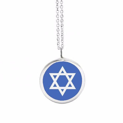 Large Star of David Color Pendant Necklace - (Choice of Colors)