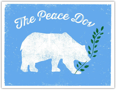 The Peace Dov Greeting Card by Brooklyn Animal - ModernTribe