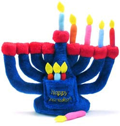 Hanukkah Gift For Kids 2+ : Plush Menorah by JET - ModernTribe