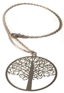 Polli Elm Tree of Life Necklace - Silver by Polli - ModernTribe - 1
