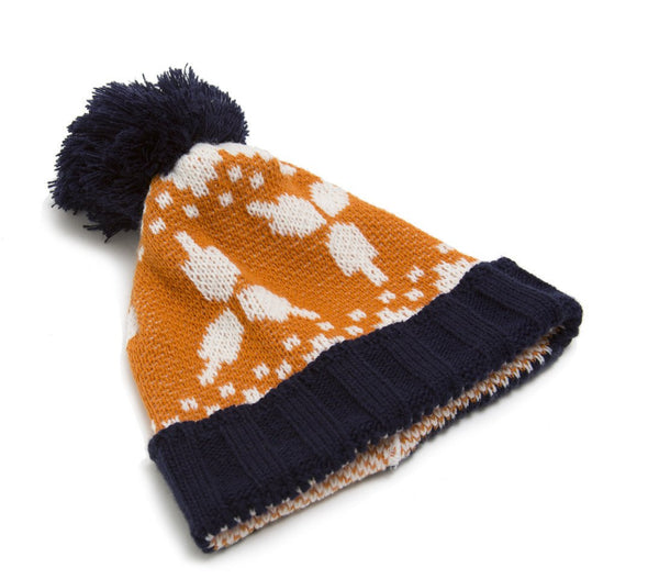 Hanukkah Beanie Hat in Navy - ModernTribe