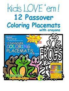 Passover Coloring Placemats - All Ages by 30 Minute Seder - ModernTribe - 1