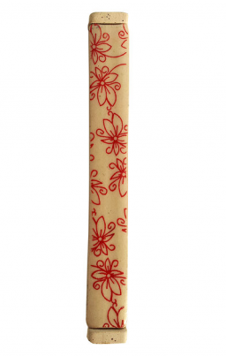 Michal Red Flowers Mezuzah by Michal Ben-Yosef - ModernTribe