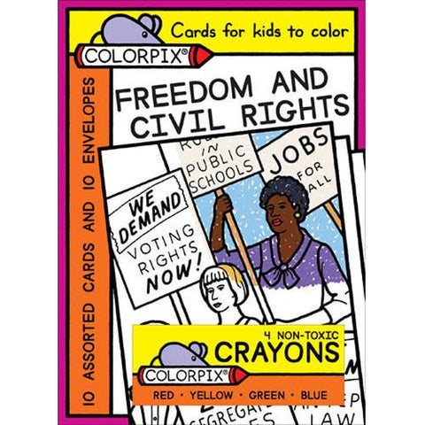 Freedom & Civil Rights Cards to Color - with Crayons by Pigment & Hue - ModernTribe
