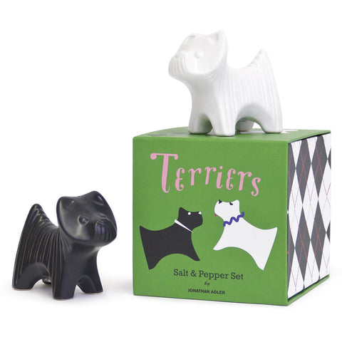 Terrier Salt & Pepper Shakers by Jonathan Adler by Jonathan Adler - ModernTribe - 1
