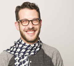 Dreideltooth Scarf in Navy by Geltfiend - ModernTribe - 1