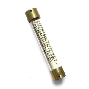 Small Gold Lid Scroll Mezuzah by Laura Cowan