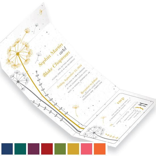 Other Invitations Wildflower Dandelion Seal and Send Plantable & Personalized Wedding Invitations | Set of 50
