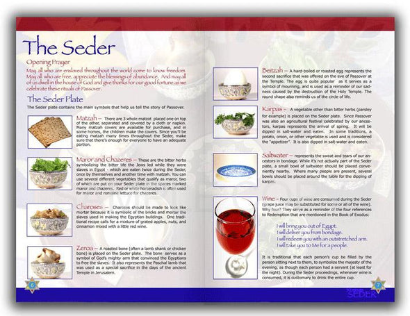 Thirty 30 Minute Seder Haggadah | Standard and Large Print