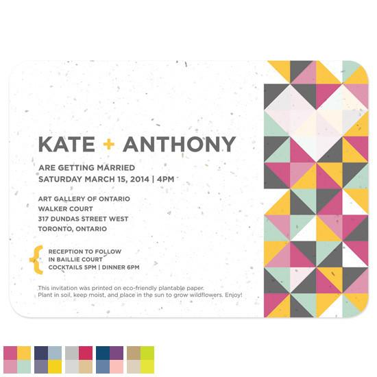 Other Invitations Geometric Plantable & Personalized Wedding Seed Invitations | Set of 50