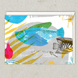Rosh Hashanah Cards - Set of 4 - Fish & Pomegranates by Dvash - ModernTribe - 4