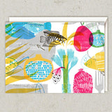 Rosh Hashanah Cards - Set of 4 - Fish & Pomegranates by Dvash - ModernTribe - 3