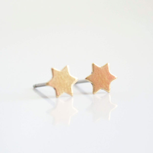 Bronze Star of David Earrings - ModernTribe
