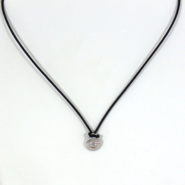 Silver Evil Eye Necklace by Sugar Bean by Sugar Bean Jewelry - ModernTribe - 1