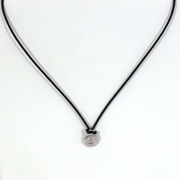 Sugar Bean Jewelry Necklaces Silver Silver Evil Eye Necklace by Sugar Bean