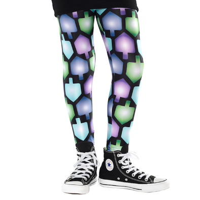 Kids Hanukkah Dreidel Leggings