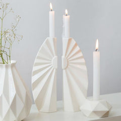 Origami Sunburst Candlesticks - Pair