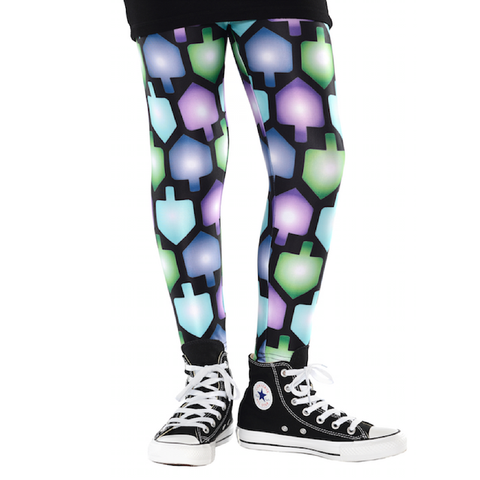 Hanukkah Dreidel Leggings