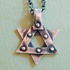 Rachel Miller Necklaces Silver Studded Star of David Necklace for Men